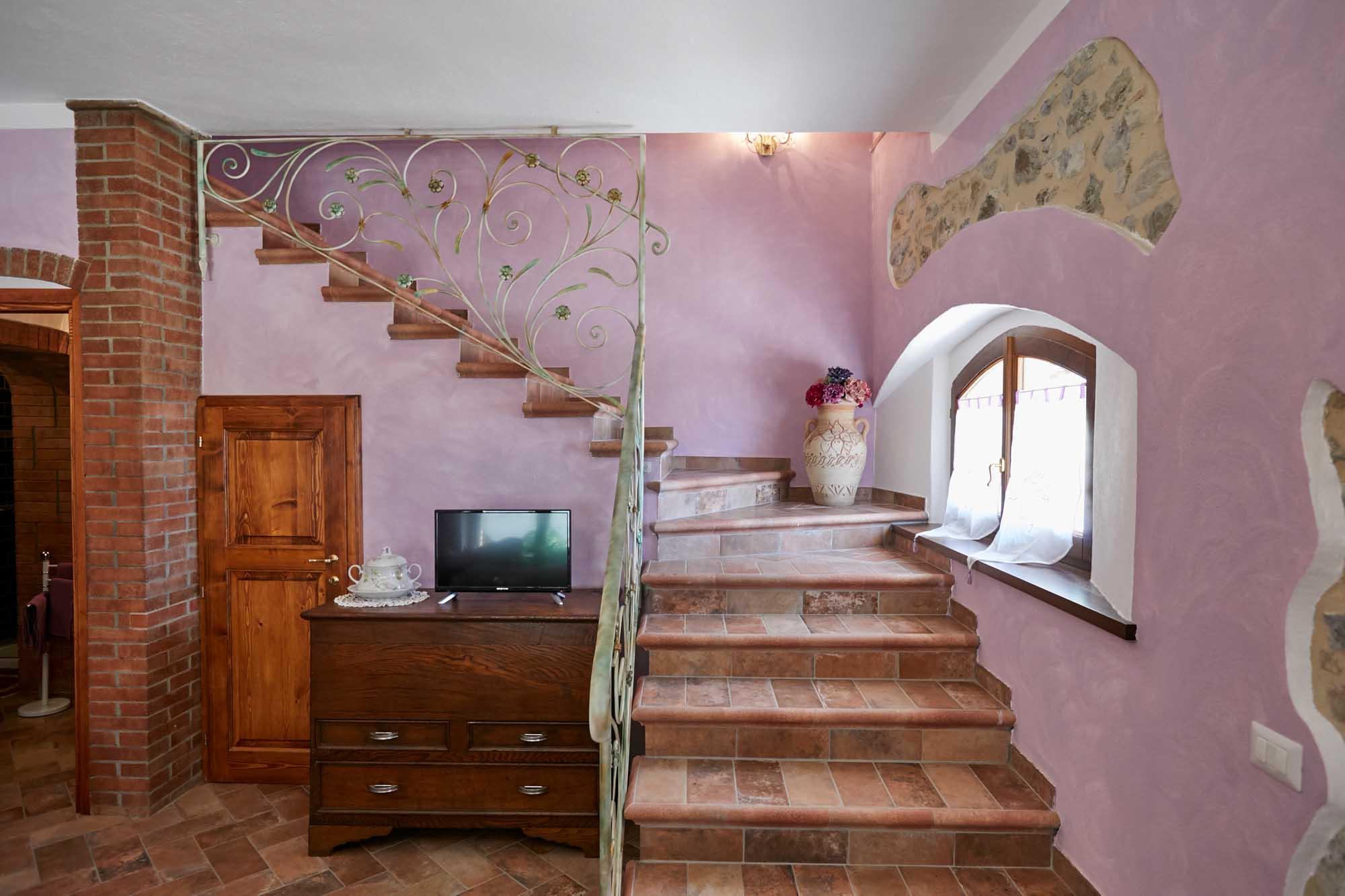 scala appartamento lilla